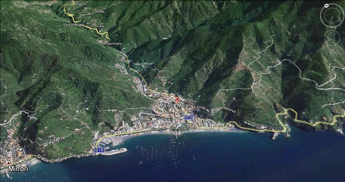 Maiori Italy Map.Info Services In Maiori Tour Assistance In Amalfi Coast Italy